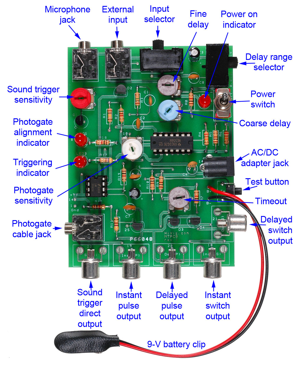 Operating Instructions For The Mt Pcb3 Pulse Delay Circuit Photogate With Delayed Flash