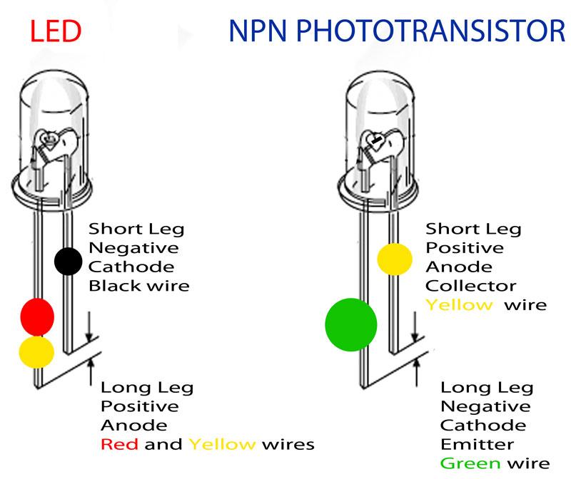 Ir Led Polarity IR LEDPT connections